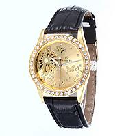 Женские наручные часы скелетон с цветами