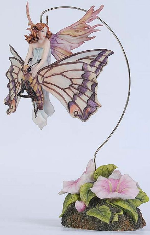 Волшебная статуэтка фея - Малышка на бабочке Veronese 72459