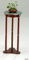 Подставка для цветов SR-0486-W деревянная с мраморной круглой столешницей