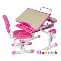Комплект парта и стул-трансформеры FunDesk Sorriso Pink