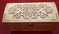 Шкатулка сувенірна дерев'яна ручної роботи