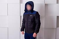 Зимняя куртка Nike 46- 54 ( Black - Blue )