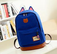 Стильный городской рюкзак с ушками электрик