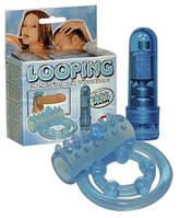 Эрекционное кольцо с вибрацией Looping Penisring m. Vibration