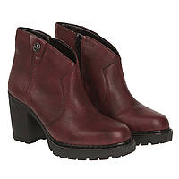 Ботинки женские Rieker (роскошный бордовый цвет, удобный каблук, стильные, удобные, модные)