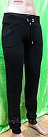 Спортивные женские трикотажные брюки на манжете