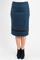 Женская юбка Герда  утепленная синяя