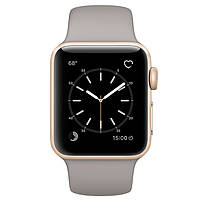 Apple Watch Series 1 Sport 38mm Gold Aluminium Case with Concrete Sport Band (MNNJ2)	, фото 1