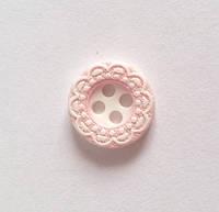 Пуговица пришивная модель 7 - цвет розовый, размер 18