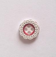 Пуговица пришивная модель 7 - цвет красный, размер 18