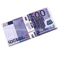 """Сувенирные деньги """"500 € сувенирный"""" пачка 80 купюр"""