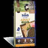 Bosch (Бош) ADULT Poultry & Spelt 15кг- корм для собак со средним уровнем активности (птица/cпельта)