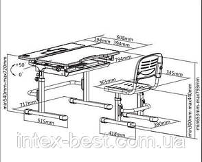 Комплект парта и стул-трансформеры FunDesk Lavoro Blue, фото 2