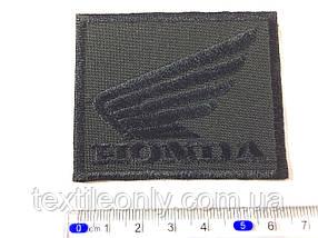 Нашивка HONDA цвет черный 67x54мм