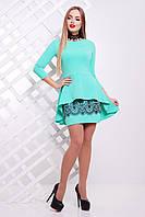 Женский юбочный костюм, цвета мята