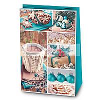 Новогодний картонный подарочный пакет SuperL пл. - АССОРТИ