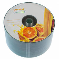 Диск CD-R 50 Videx 'Fresh Апельсин', 700Mb, 52x, Bulk Box