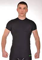Мужская спортивная футболка компрессионная BERSERK тренировочная MARTIAL FIT black
