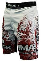 Шорты для MMA BERSERK  BLOOD FIGHTER white