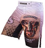 Шорты для MMA BERSERK  GLADIATOR white, фото 1