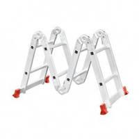 Лестница алюминиевая мультифункциональная трансформер 4x2 ступ. 2.50 м INTERTOOL LT-0028