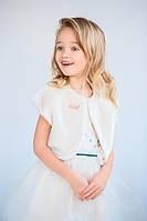 Детская накидка меховая для девочки, белая нарядная накидка, болеро для девочки