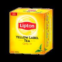 Черный Чай Липтон Yellow Label 100 пакетиков