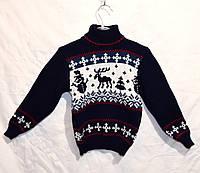 """Детский вязаный свитер """"Оленята"""" для мальчика, фото 1"""
