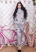 Женский тёплый спортивный костюм с вышивкой Dolly