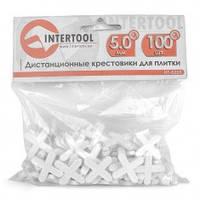 Набор дистанционных крестиков для плитки 5,0 мм / 100 шт INTERTOOL HT-0355