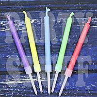Свечи для торта с цветным пламенем, 5 шт, фото 1