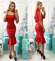 Женское модное платье на завязках (4 цвета)