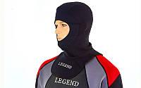 Шлем для дайвинга LEGEND PL-6304 (3мм неопрен, р-р M-XXL, черный)