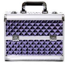"""Чемодан для визажиста с выдвижными полочками """"Diamonds"""", фиолетовый"""