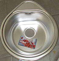 Мойка кухонная HAIBA капля 44*50 polish, толщина 0,8 мм+сифон ф110