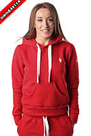 WOMENS ATHLETIC HOODY, RED , фото 1