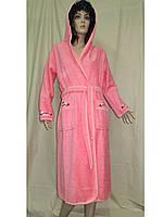 Халат женский махровый 44-52 банный длинный Ramel