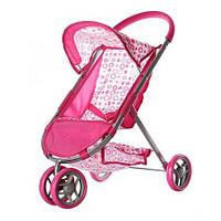 Коляска для кукол 9675: козырек, ремень безопасности, корзинка, колеса 13 см, 55х62,5х37 см