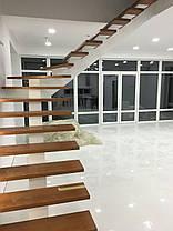 Лестницы на прямом косоуре обшитые деревом, фото 2