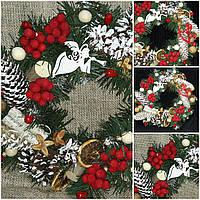 """Новогоднее украшение - венок (на двери),""""Зимнее настроение"""" 195/180,  35-40 см"""