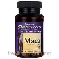 Мака для сексуального здоровья, Swanson, 500 мг, 60 капсул