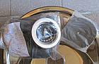 Мойка кухонная HAIBA круг satin 490 мм, толщина 0,8 мм+сифон ф110, фото 2