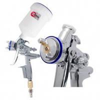 HVLP II Профессиональный краскораспылитель 1.3 мм верхний пластиковый бачок 600 мл INTERTOOL PT-0105