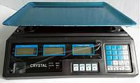 Весы торговые электронные Crystal (40 кг) со счетчиком цены HZT /062