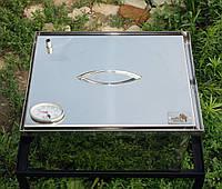 Коптильни горячего копчения малая из нержавейки (400х300х280) с термометром