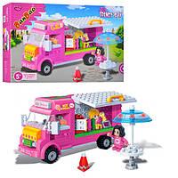 Конструктор BANBAO 6117 магазин мороженого на колесах, фигурки 2шт, 223 дет, в кор-ке, 28-19-5,5см