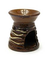 Аромалампа керамика коричневая (8х7х7 см)
