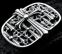 Мужская серебряная пряжка Кельтский Крест Chrome Hearts 110 грамм