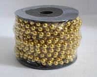Гирлянда-бусы, катушка диаметр 6мм, длина 10м. №SH004С золото