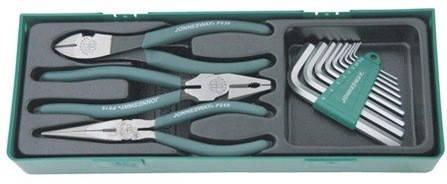 Набор шарнирно-губцевого инструмента JONNESWAY P018SP110 пр., фото 2